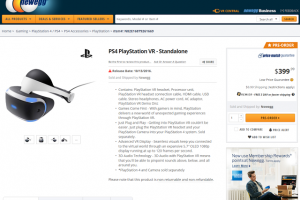 Playstation VR Core System available for preorder at Newegg