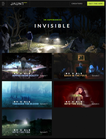 """Invisible"" is a 6-part sci-fi thriller VR miniseries that showcases VR storytelling"