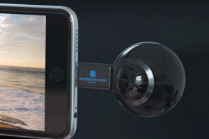 The360Cam is a 360 camera that attaches to Android phones and iPhone