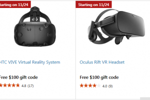 DEALS: Black Friday deals on HTC Vive and Oculus Rift!