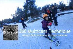 Technique: using one 360 camera to simulate multiple cameras for multicam video editing