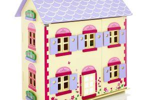 Girl enters her dollhouse using a Ricoh Theta!
