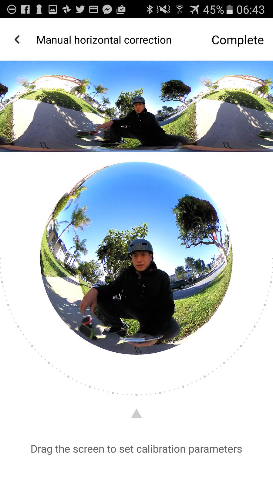 TECHNIQUE: apply horizon correction to Insta360 Nano photos and