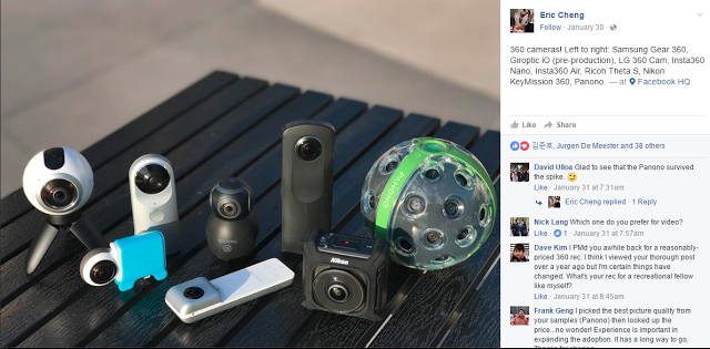Facebook compares eight 360 cameras!