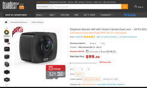 Elecam is currently on sale at GearBest for $99!
