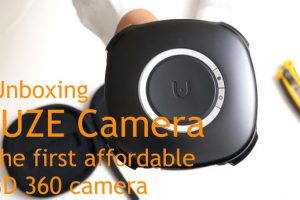 unboxing the Vuze 3D 360 camera