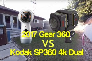 A quick comparison between the 2017 Samsung Gear 360 and the Kodak SP360 4K Dual Pro