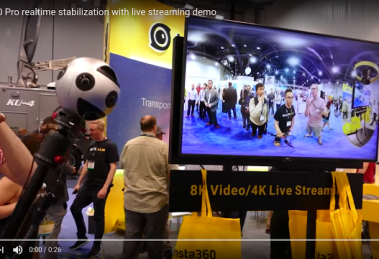 Insta360 Pro realtime stabilization at NAB Show 2017