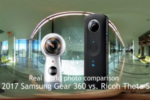 Photo comparison between 2017 Samsung Gear 360 and Ricoh Theta S