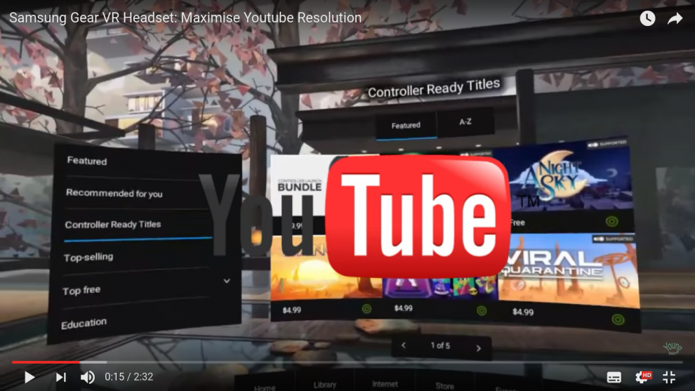 e75c59fac5dd How to watch YouTube in full resolution on Samsung Gear VR (360 and non-360  videos)