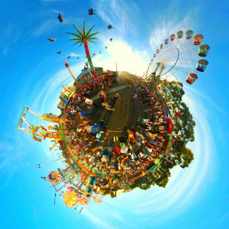 tiny planet photo by Ben Claremont