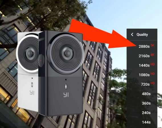 Yi 360 VR 5.7K sample video posted