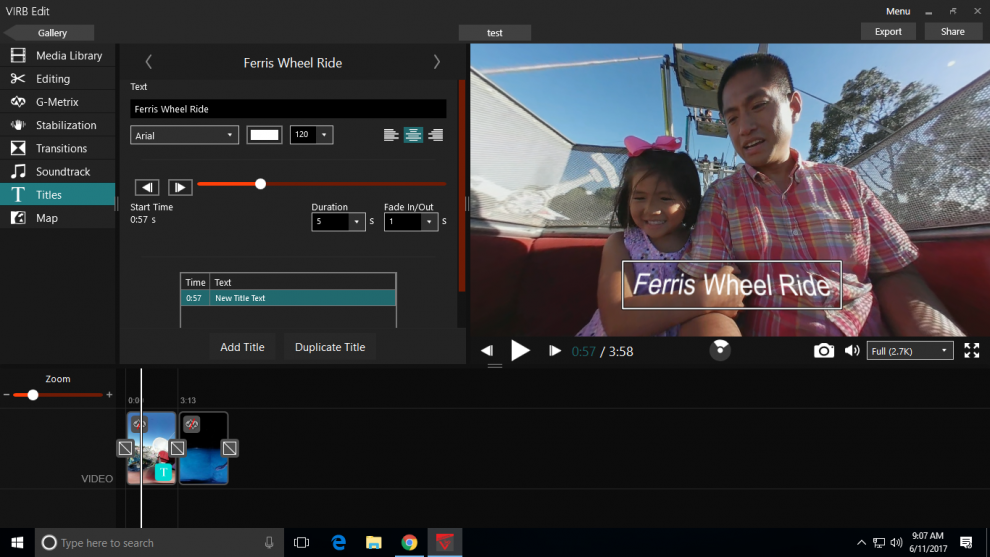 Virb Edit is the best free 360 video editor, with features not even