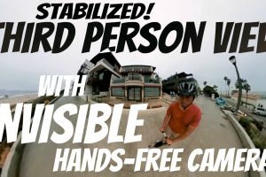 stabilized third person view with hands-free invisible mount