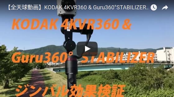 stabilized 360 video from Kodak PIXPRO Orbit360