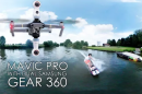 Aerial 360 video with invisible drone