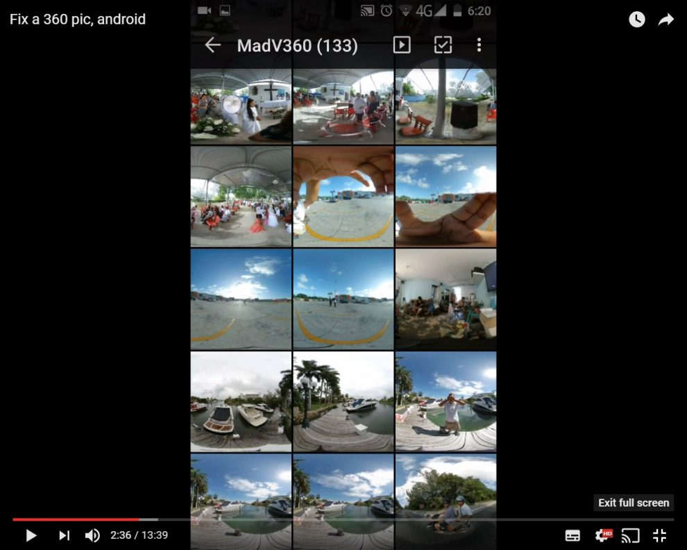 360 photo editing workflow for Android