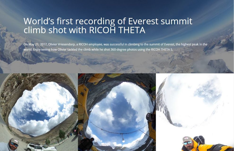 Ricoh Theta 360 photos at Mt. Everest
