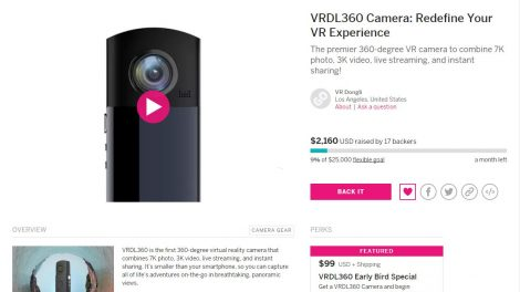 VRDL360 crowdfunding is live
