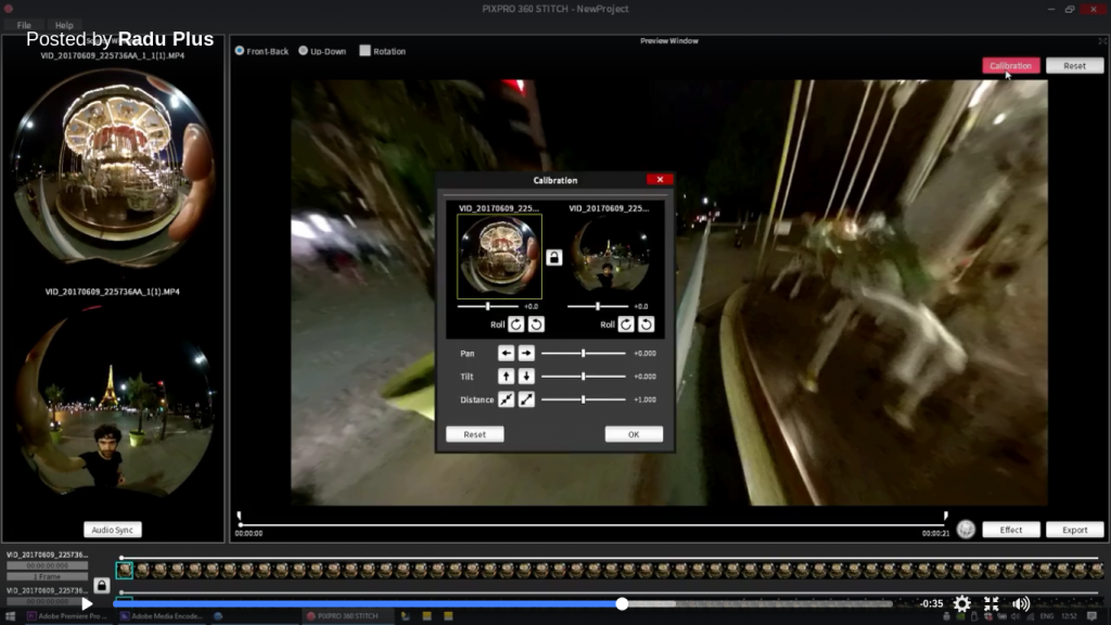 How to stitch double circular fisheye 360 videos for free on Windows