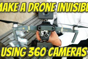 Make a drone invisible using 360 cameras