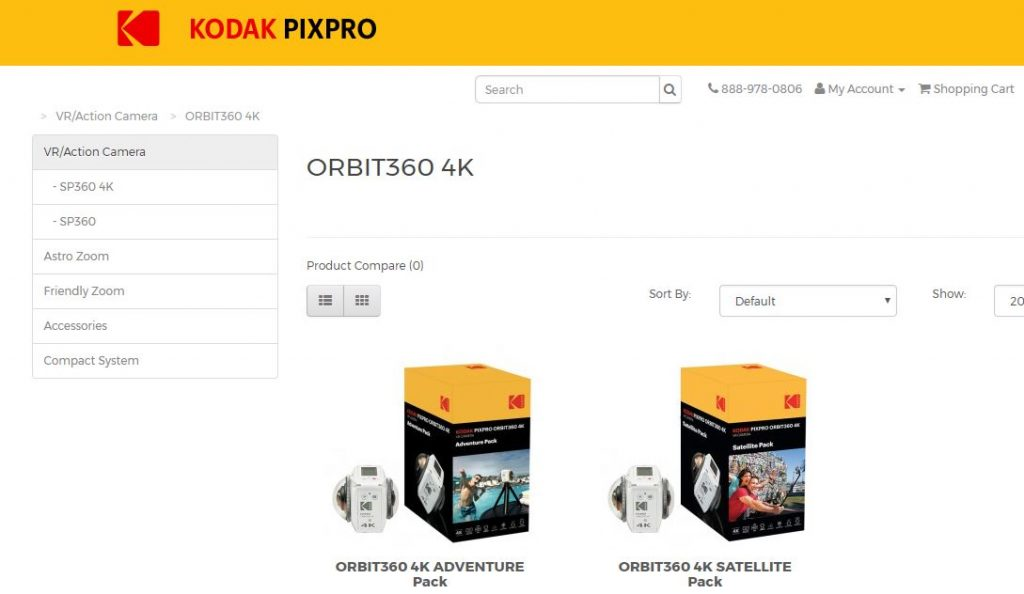 Kodak PIXPRO Orbit360 4KVR360 orders