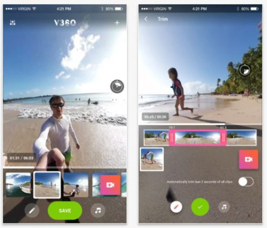 V360, the first 360 video editing app for Android now also available