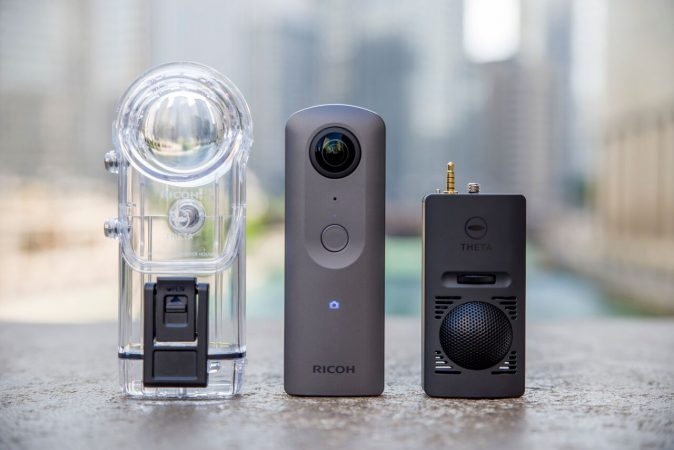 Ricoh Theta V (4K Theta) and the new accessories