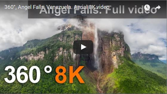 World's first 360 video of Angel Falls