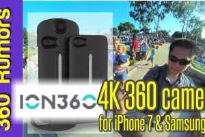 ION360 U 360 camera Accessory for iPhone 7 & Samsung S8