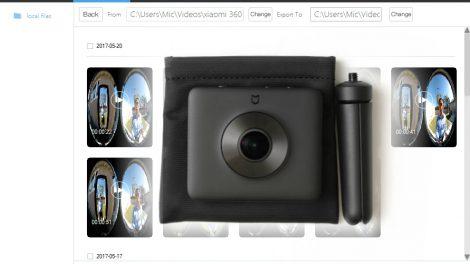 PC app for Xiaomi Mijia Mi Sphere 360 camera