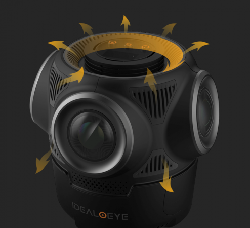 New version of Idealoeye C4 4K 360 camera