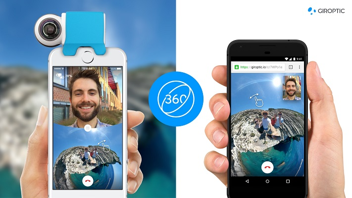 World's first 360 video calls with Giroptic iO Ping