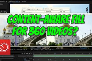 Project Cloak content aware fill can happen to 360 videos too