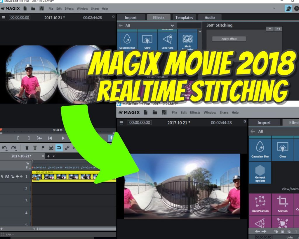 Magix Movie Edit Pro Plus 2018 Can Stitch 360 Videos In Realtime