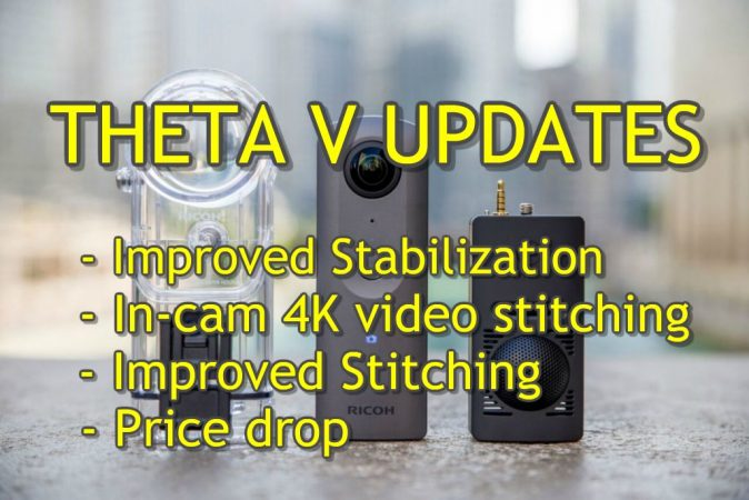 Ricoh Theta V updates: stabilization, stitching, price drop