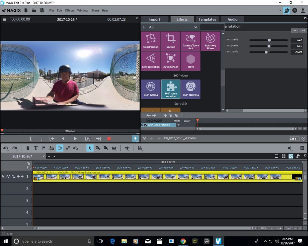 Magix Movie Edit Pro Plus 2018 Update Enables Horizon Leveling