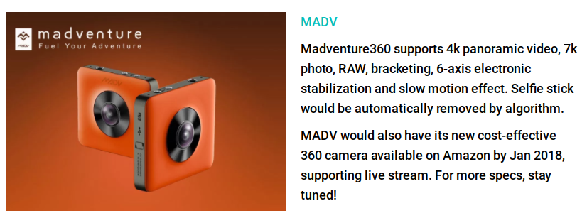 madventure 360 will have live streaming