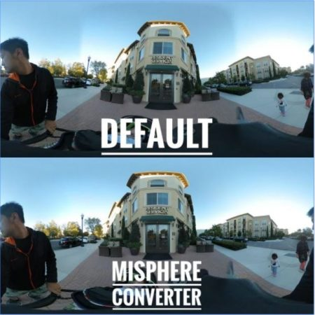 Mi Sphere stitching can be seamless with MiSphere Converter
