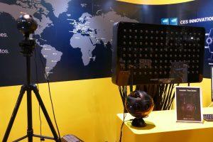 Insta360 Titan 10K 360 camera and light field camera next to Insta360 Pro