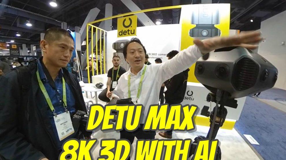 Detu Max 8K 3D 360 camera with AI