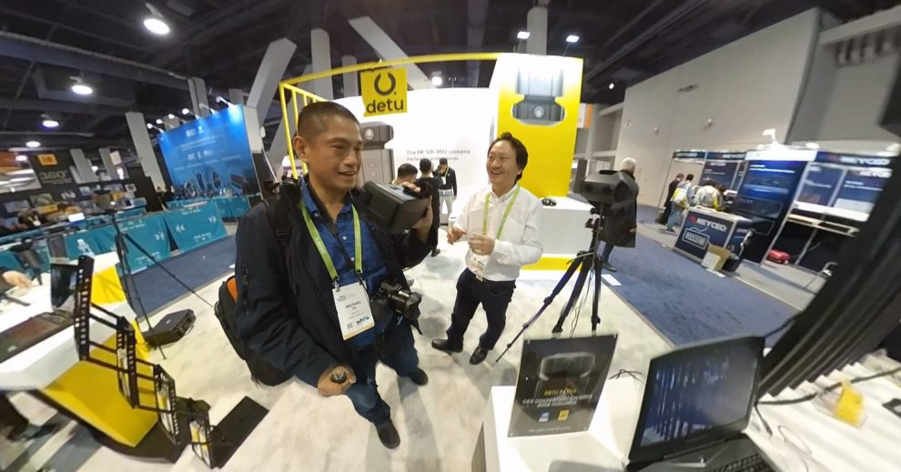 Detu Max 8K 3D 360 camera featured at CES 2018