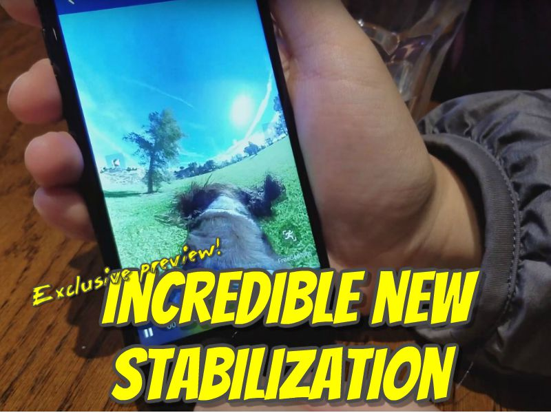 Preview of Insta360 ONE's new stabilization