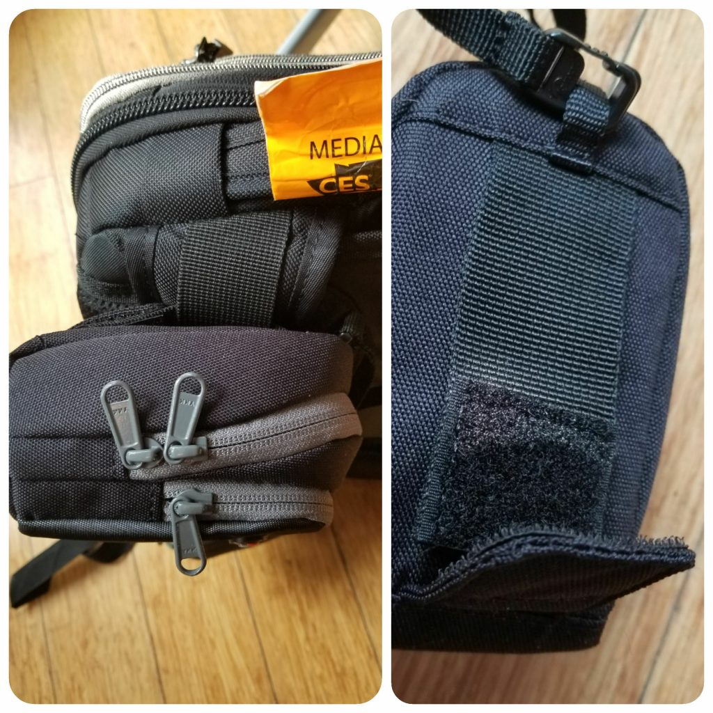 Lowepro Sliplock allows you to attach the case to belts and straps without having to undo them