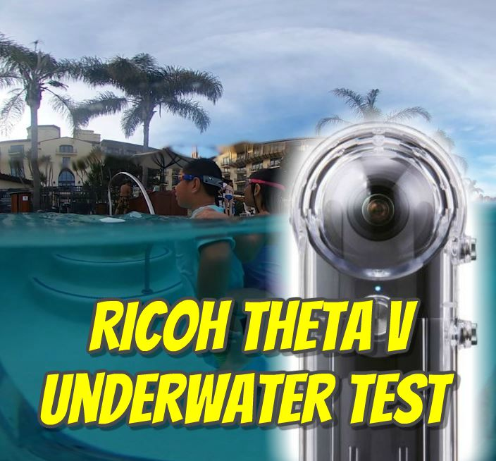 Ricoh Theta V waterproof housing test (TW-1 case)