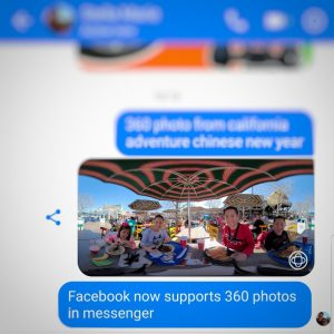 Facebook Messenger now supports 360 photos