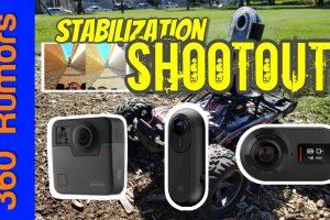 360 camera stabilization comparison: GoPro Fusion vs. Rylo vs. Insta360 One (after Flowstate)