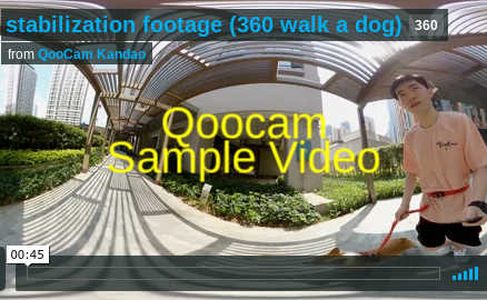 Sample video from Qoocam demonstrates excellent stabilization