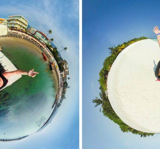 Flying camera effect