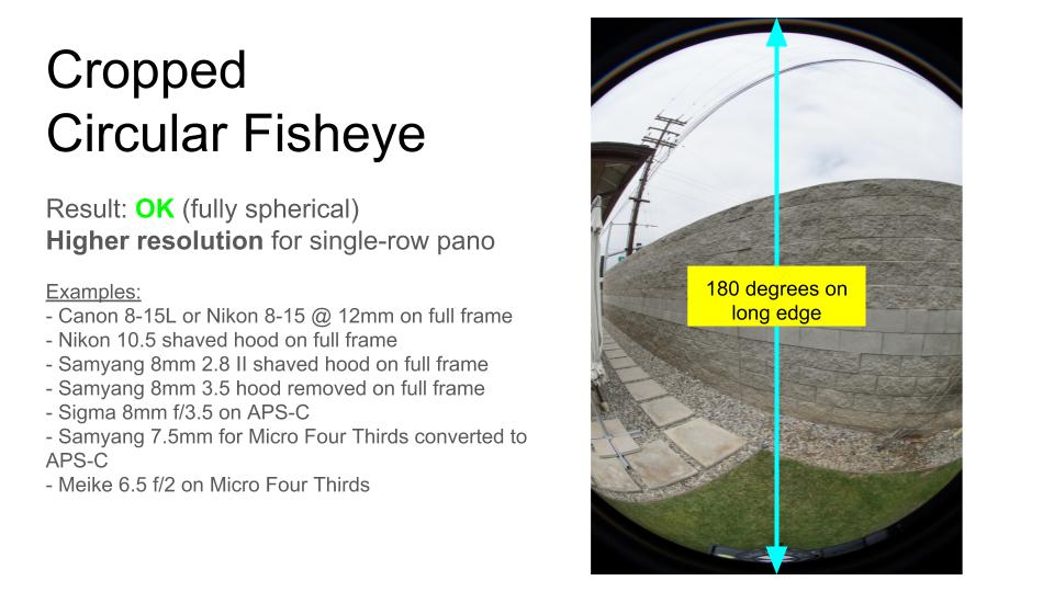 Partial / Cropped fisheye lenses - image circle
